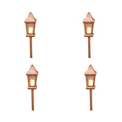 1-Light 40-Watt Low Voltage Raw Copper Outdoor Pathlight (4-Pack)