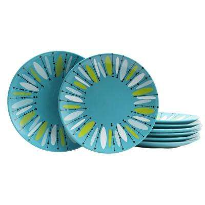 Anza 10.5 in. Turquoise Dinner Plate (Set of 8)