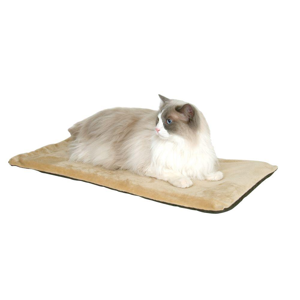 K&H Pet Products Thermo-Kitty Mat Small Sage Heated Cat Bed