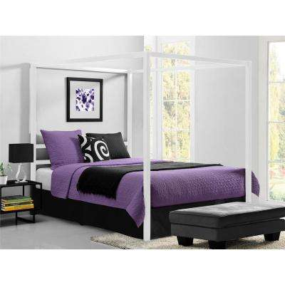 Rory Metal Canopy White Queen Size Bed Frame