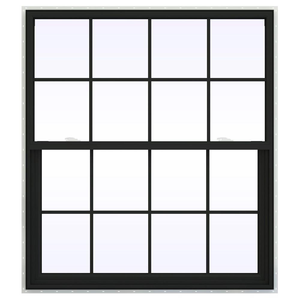 47.5 in. x 53.5 in. V-2500 Series Single Hung Vinyl Window