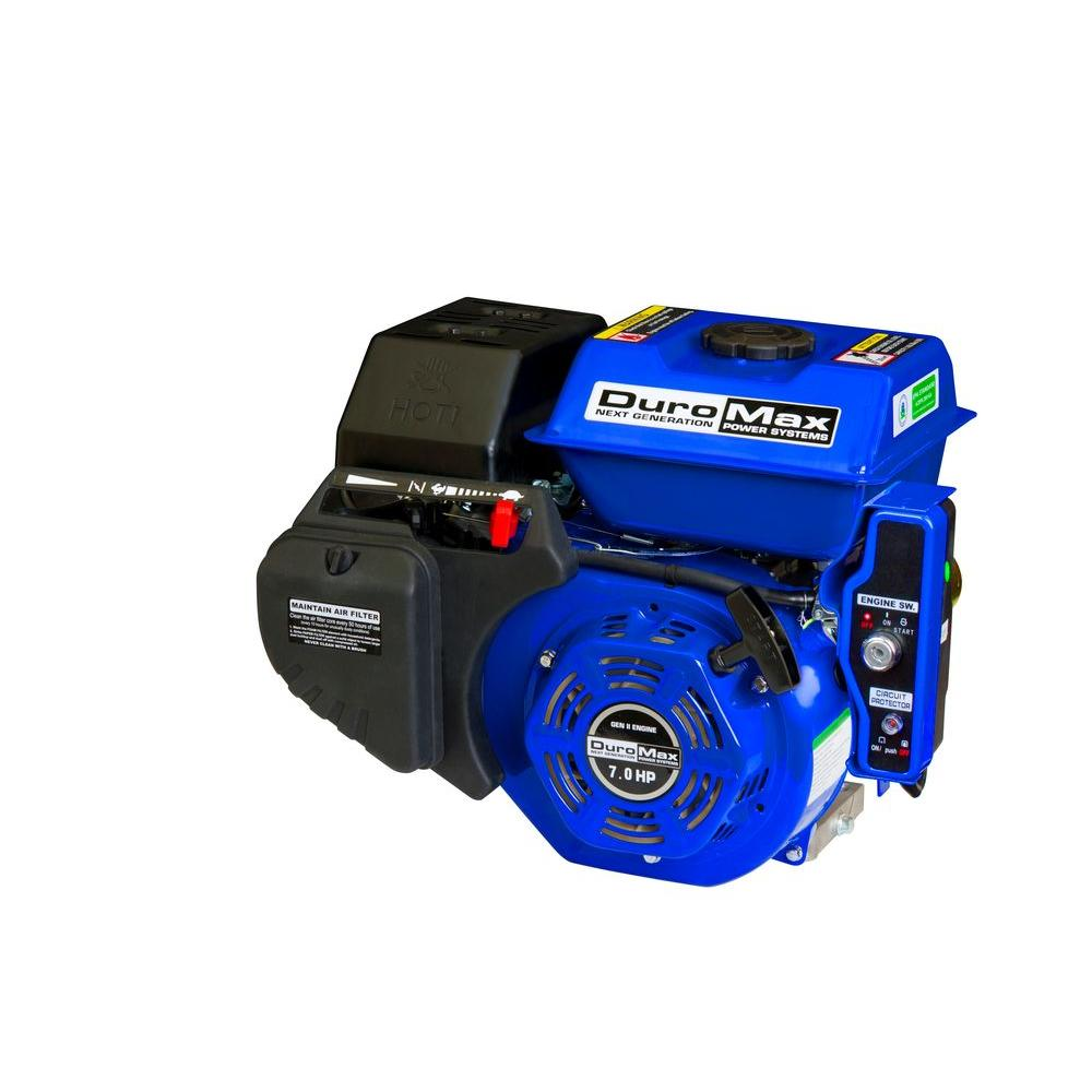 Duromax Portable 7 HP 3/4 in. Shaft Gas-Powered Recoil/Electric Start Engine