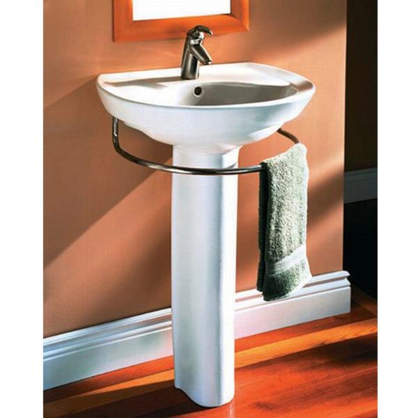 American Standard Ravenna Pedestal Combo Bathroom Sink With Center Hole Only In White 0268 100 020 The Home Depot