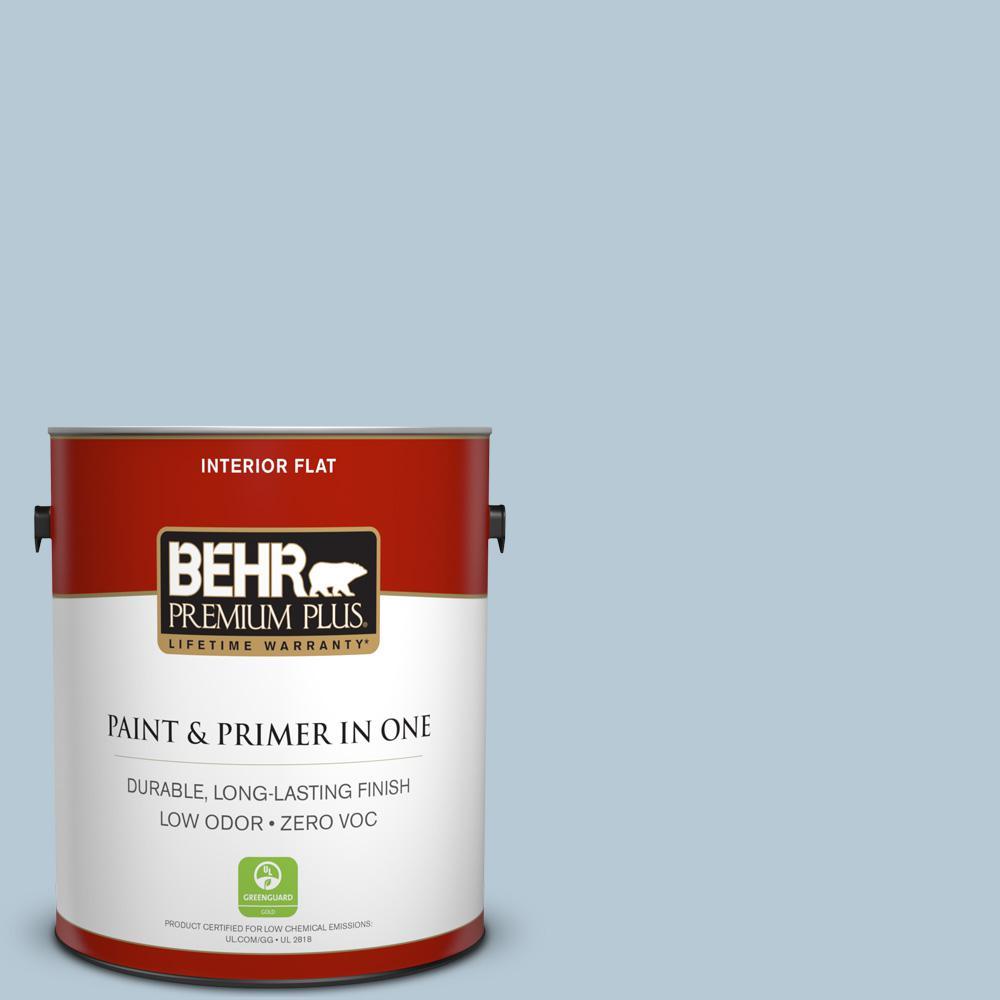 1 gal. #PPU14-15 Denim Light Zero VOC Flat Interior Paint