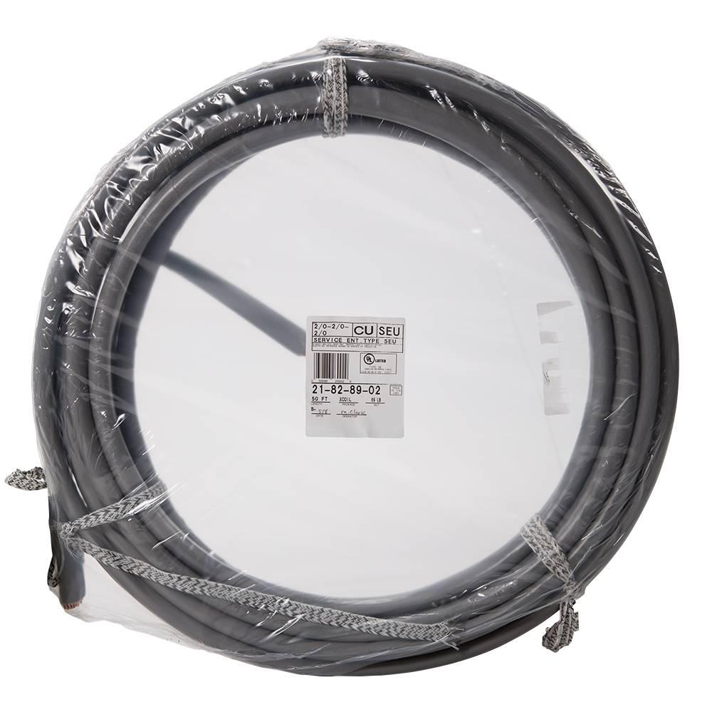 Southwire 50 ft  2/0-2/0-2/0 Gray Stranded CU SEU Cable