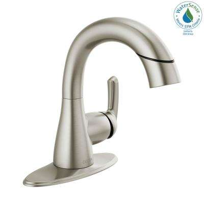 Broadmoor 4 in. Centerset Single-Handle Pull-Down Sprayer Bathroom Faucet in SpotShield Brushed Nickel