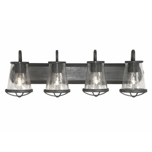 Designers Fountain Darby 4 Light Weathered Iron Bath Light 87004 Wi The Home Depot