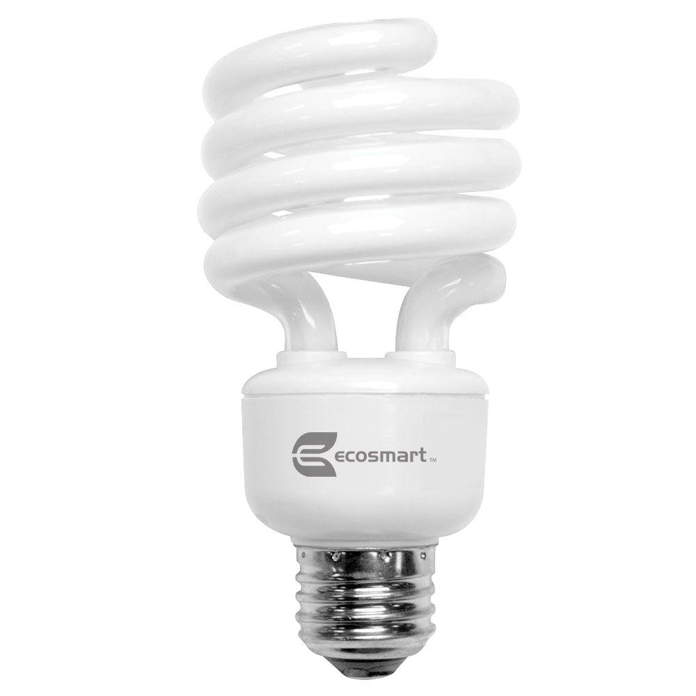 EcoSmart 100W Equivalent Bright White  Spiral CFL Light Bulb (4-Pack)
