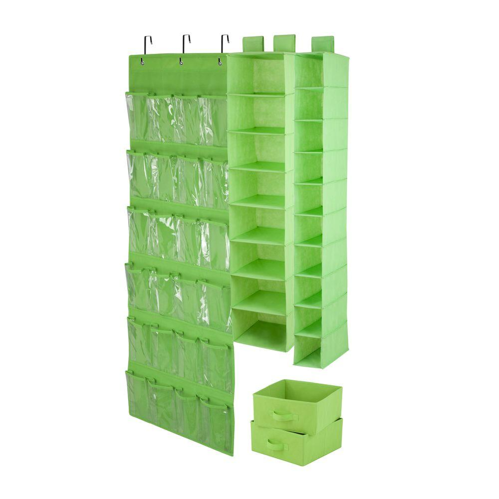 Honey-Can-Do 4-Piece Lime Closet Organization Set