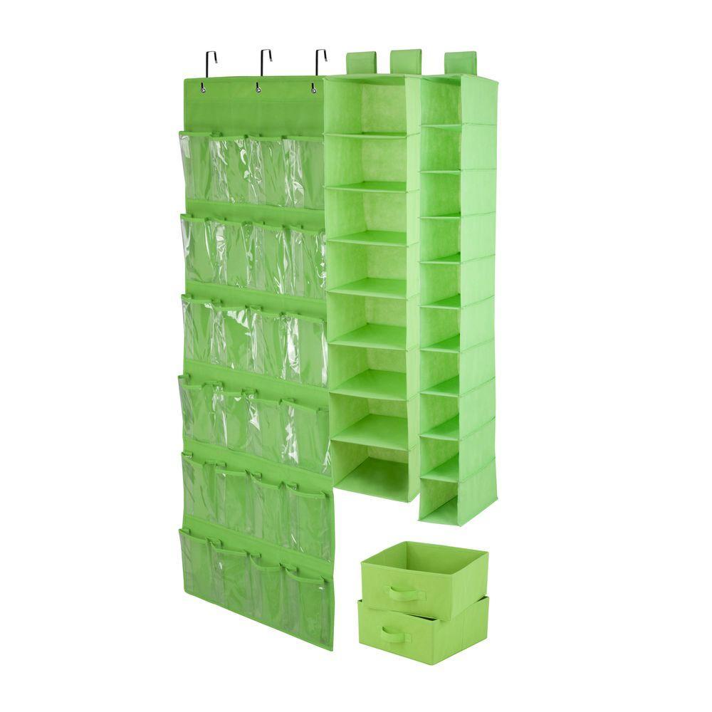 4 Piece Lime Closet Organization Set. Honey Can Do ...