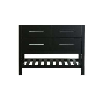 Bosconi 43 in. Main Cabinet Only in Black with Matte/Polished Chrome Hardware
