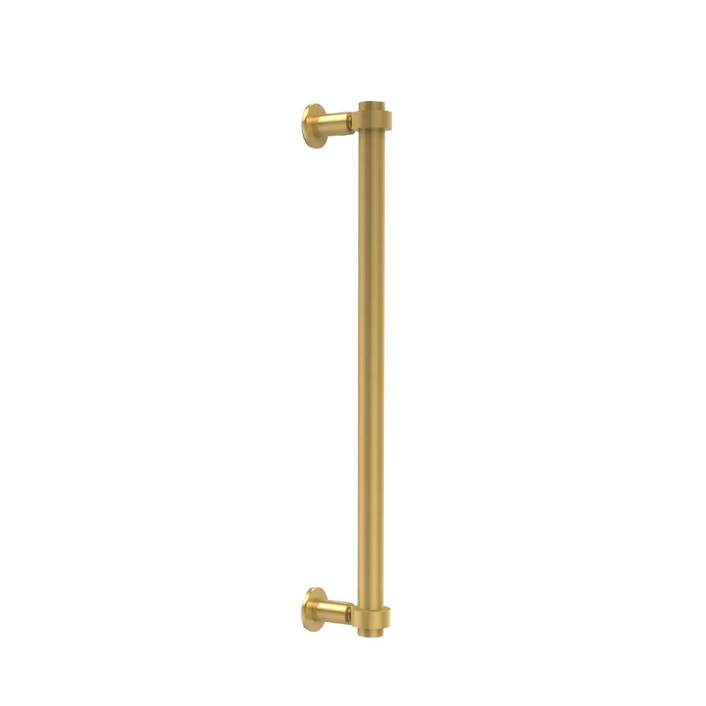 Contemporary 18 in. Back to Back Shower Door Pull in Polished