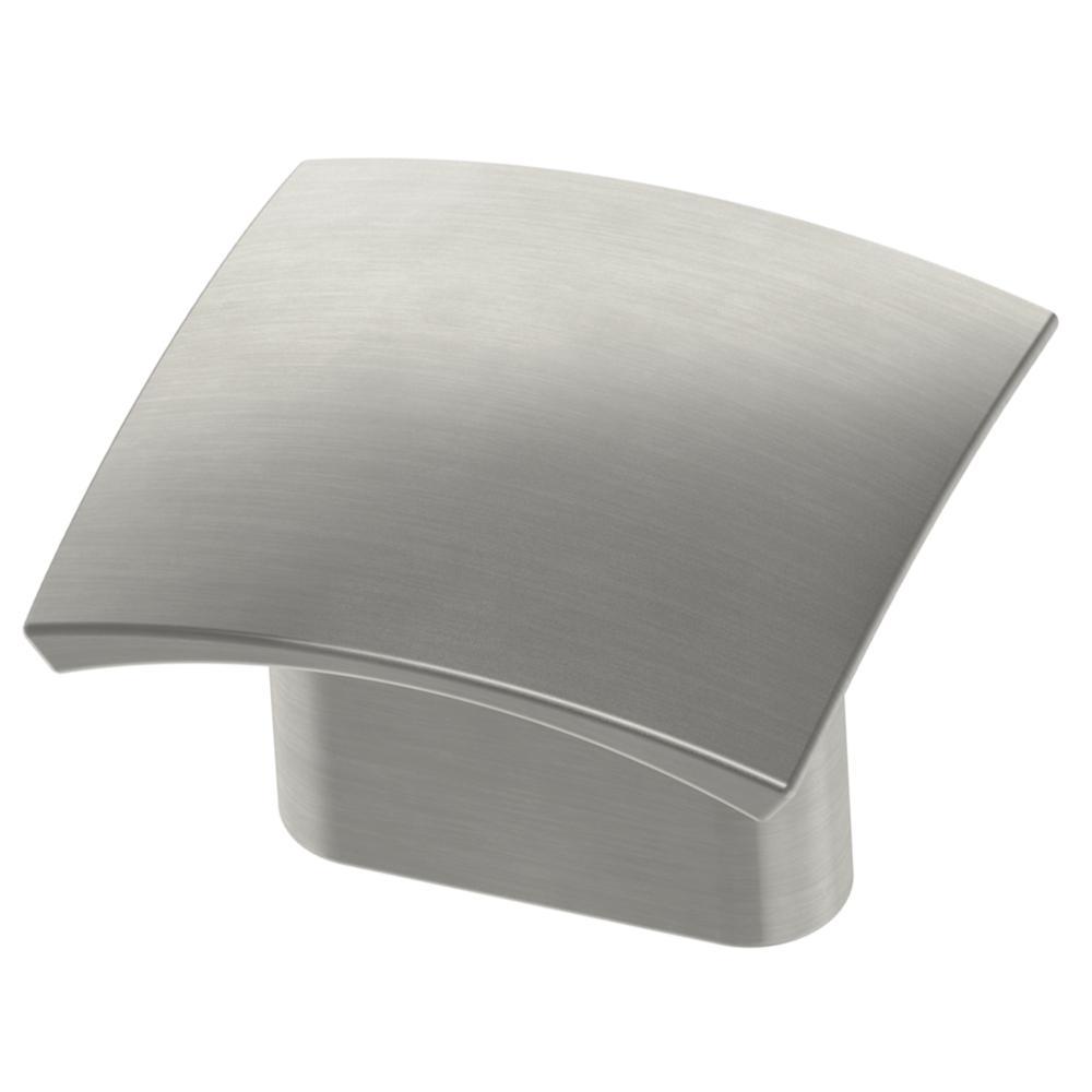 Convex 5/8 in. (16mm) Satin Nickel 1-5/16 in. Wide Square Cabinet Knob