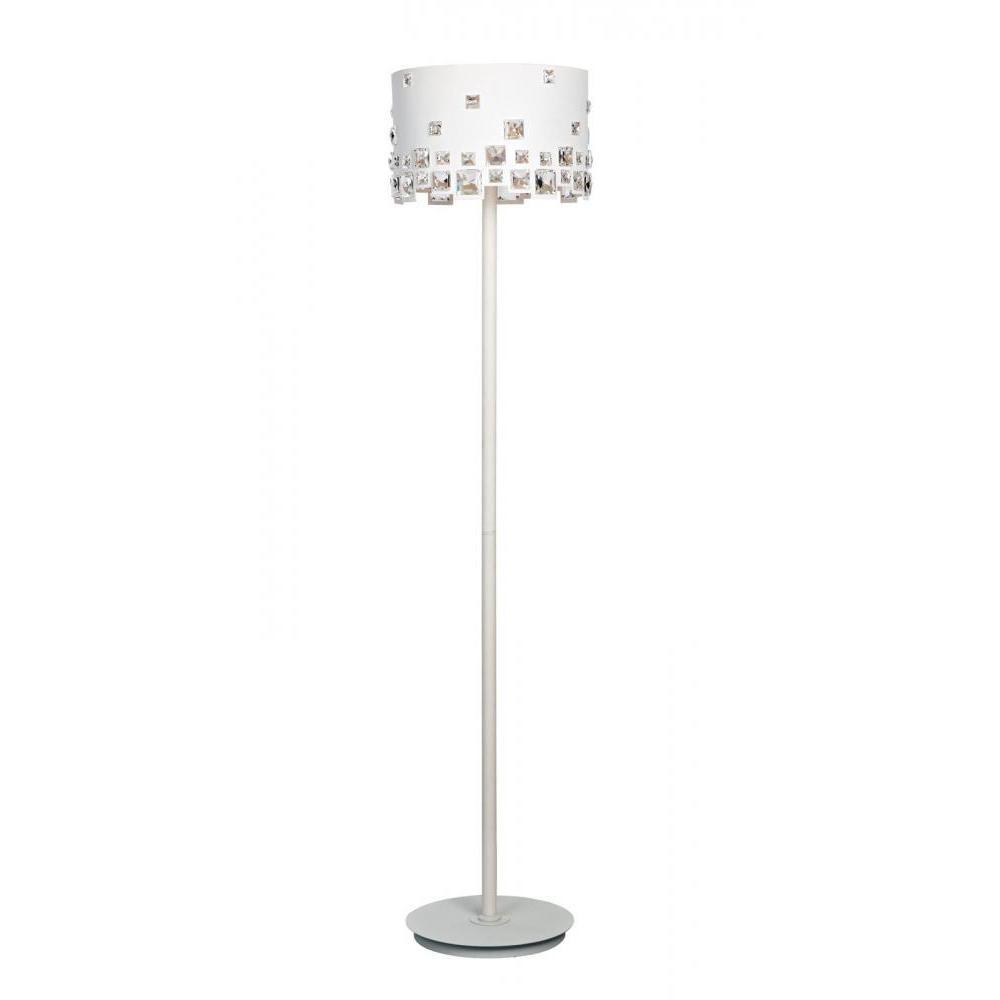 SPT EasyEye 48 in. 4 Tube Bulb White Floor Lamp with Ionizer-SL ...