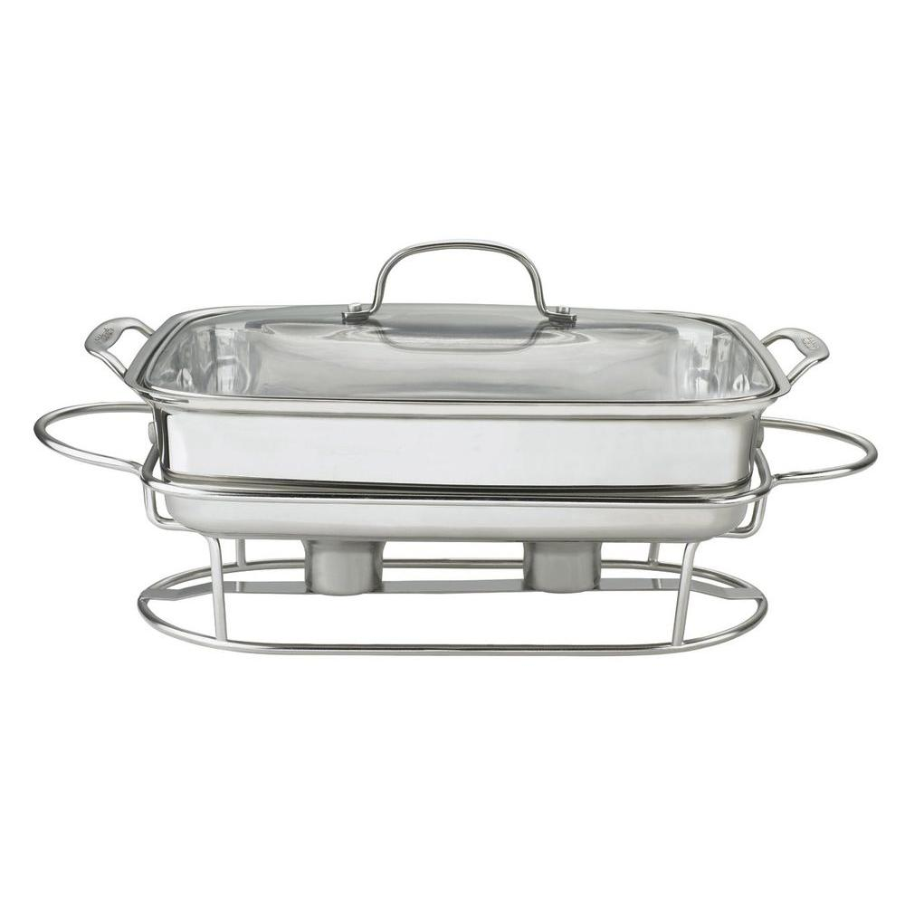 Classic Entertaining 5 Qt. Rectangular Buffet Server in Stainless
