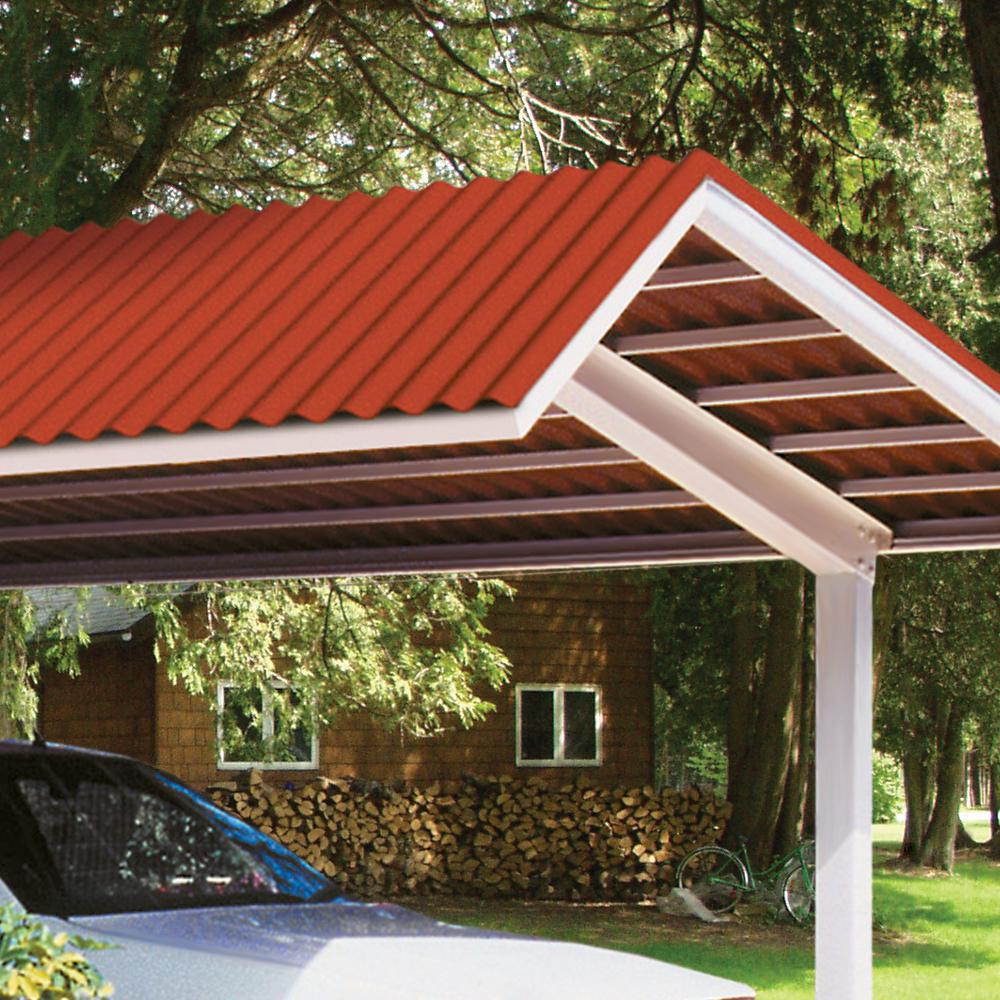 Suntop 26 in  x 8 ft  Rainforest Green Foamed Polycarbonate Corrugated Roof  Panel