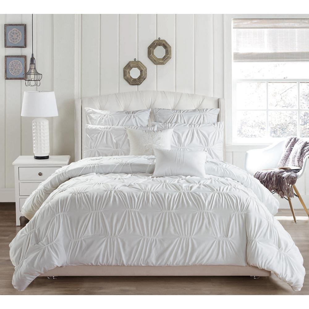 Duck River Akita 8 Piece White Queen, Queen Bed Comforters