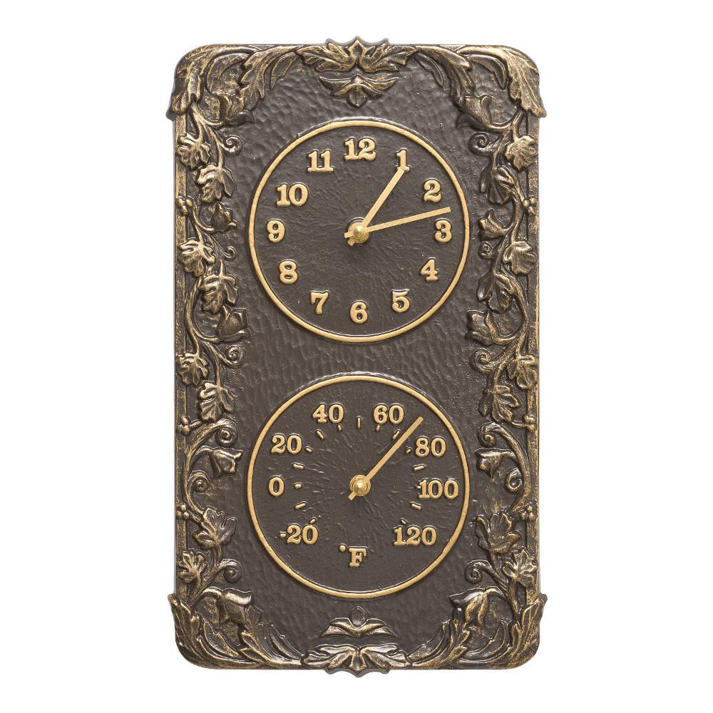 Whitehall Products Acanthus Indoor Outdoor Wall Clock And
