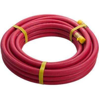 30 ft. x 3/8 in. Rubber Air Hose with 3/8 in. NPT Fittings