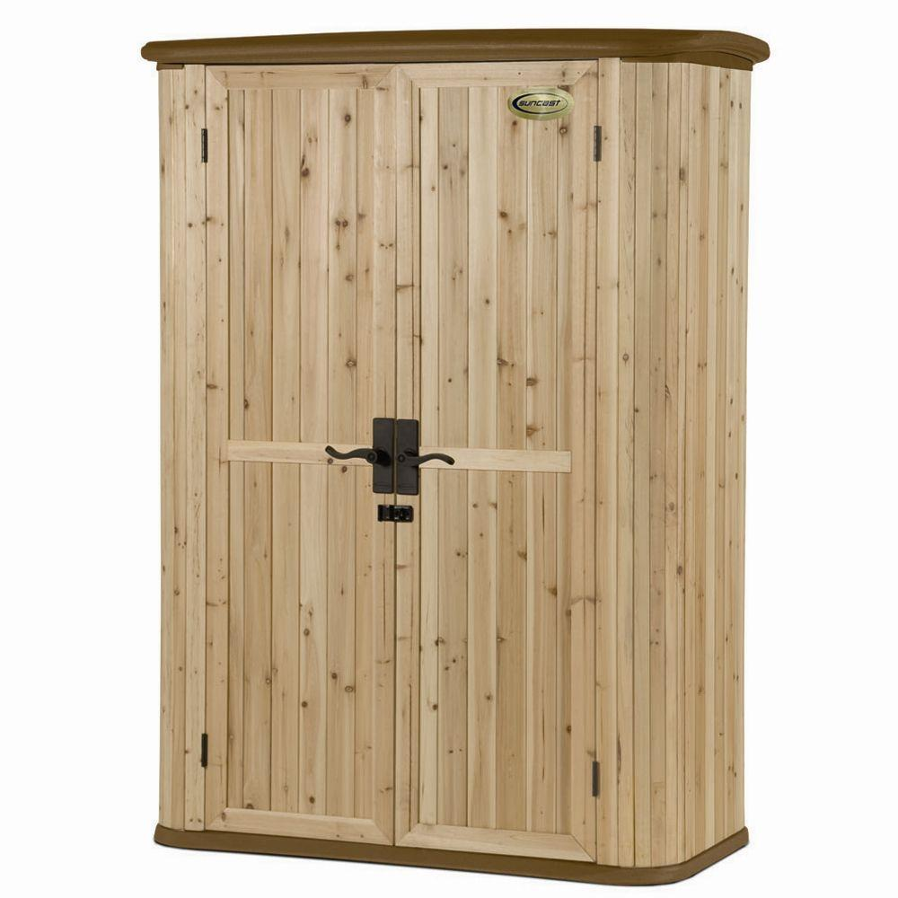 Cedar and Resin Vertical Shed, Browns/Tans