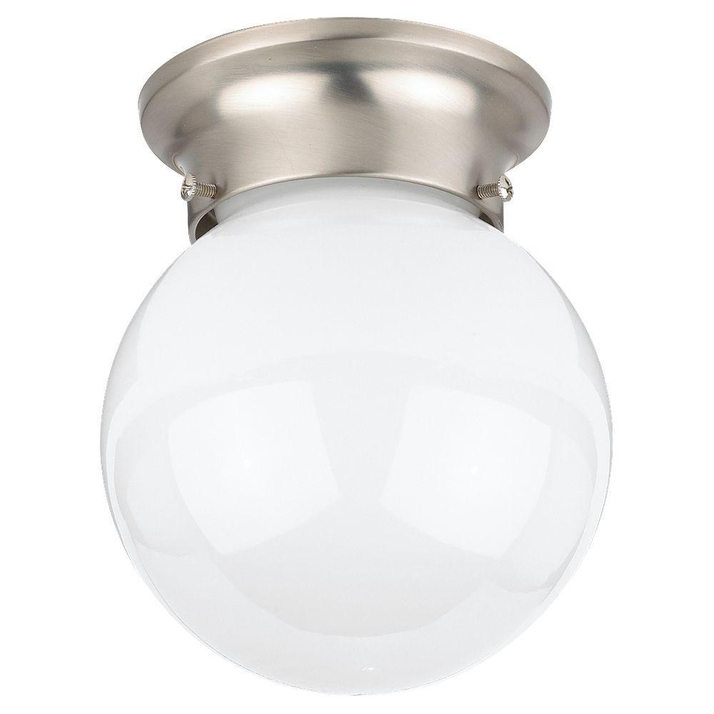 Tomkin 1-Light Brushed Nickel Flushmount
