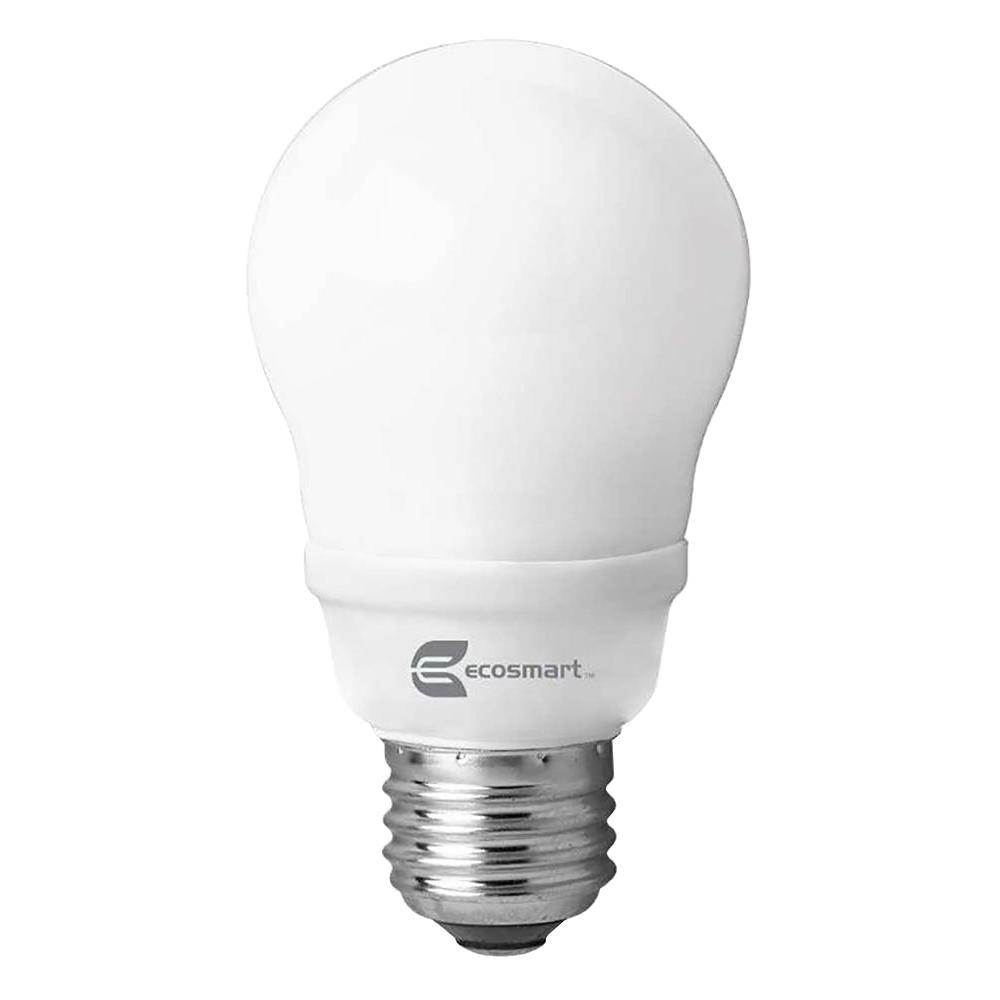 60W Equivalent Soft White A19 CFL Light Bulb (2-Pack)