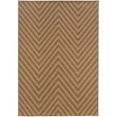 Cayman Natural 6 ft. 7 in x 9 ft. 6 in Outdoor Area Rug