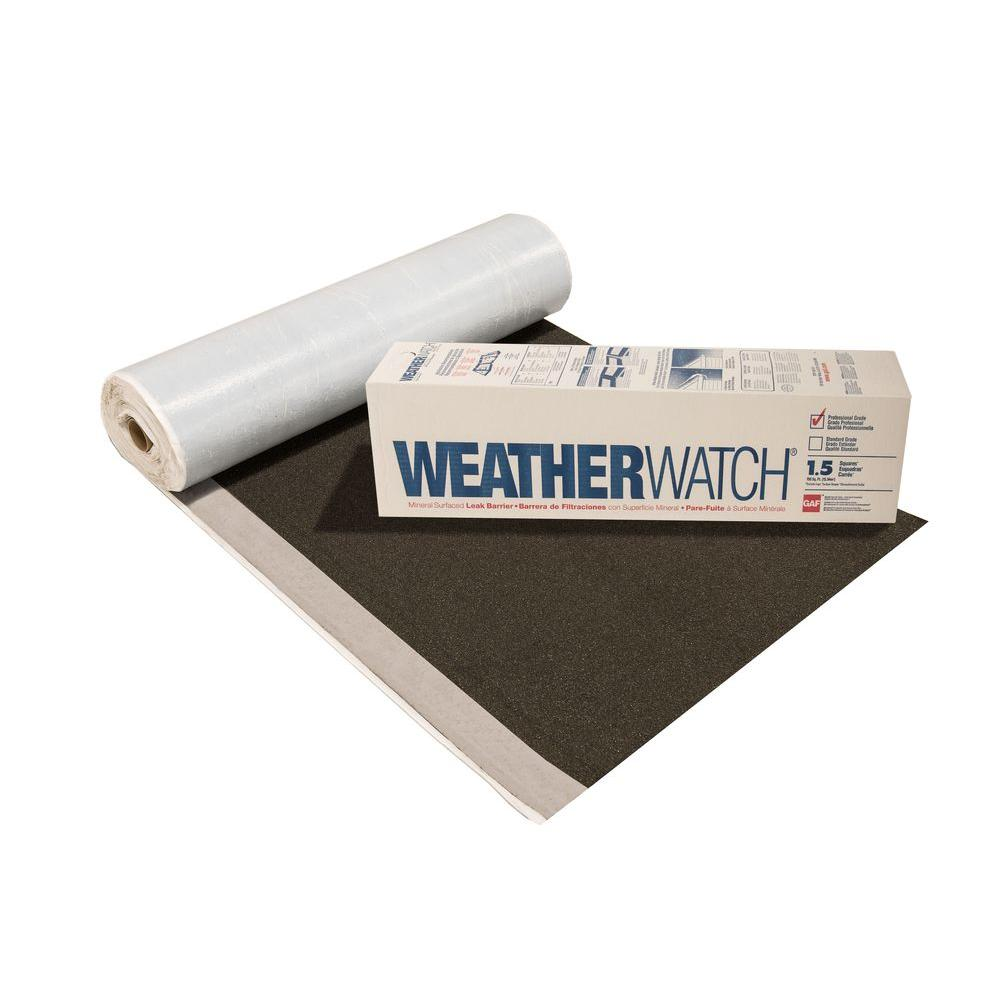 150 sq. ft. Roll WeatherWatch Granular Surfaced Roof Leak Barrier