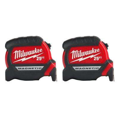 25 ft. Magnetic Tape Measure (2-Pack)