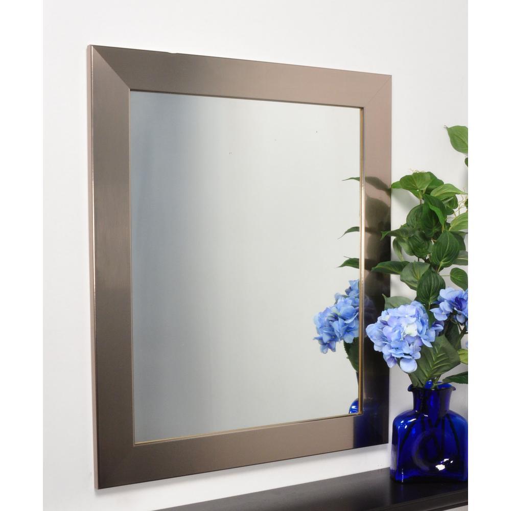 Modern Silver 32 In X 36 Vanity Wall Mirror