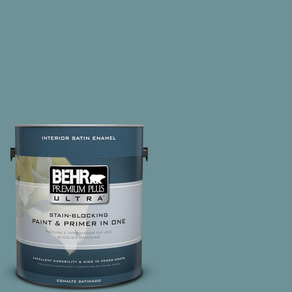 BEHR Premium Plus Ultra 1-gal. #510F-5 Bayside Satin Enamel Interior Paint