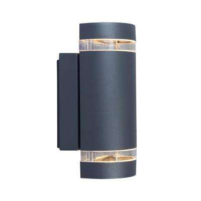 Dark Gray LED Outdoor Wall Lantern Sconce
