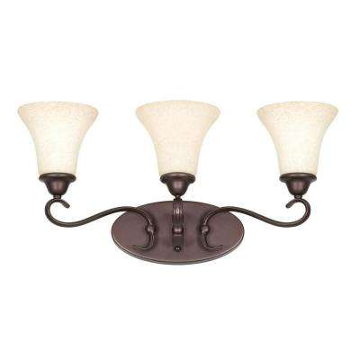 Limpus 3-Light Oil Rubbed Bronze Bath Vanity Light
