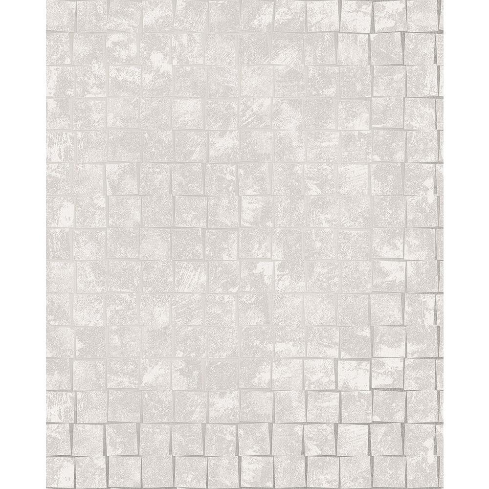 Brewster Cubist Grey Geometric Wallpaper Sample 2683-23001SAM