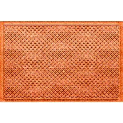 Gems Orange 24 in x 36 in Polypropylene Door Mat