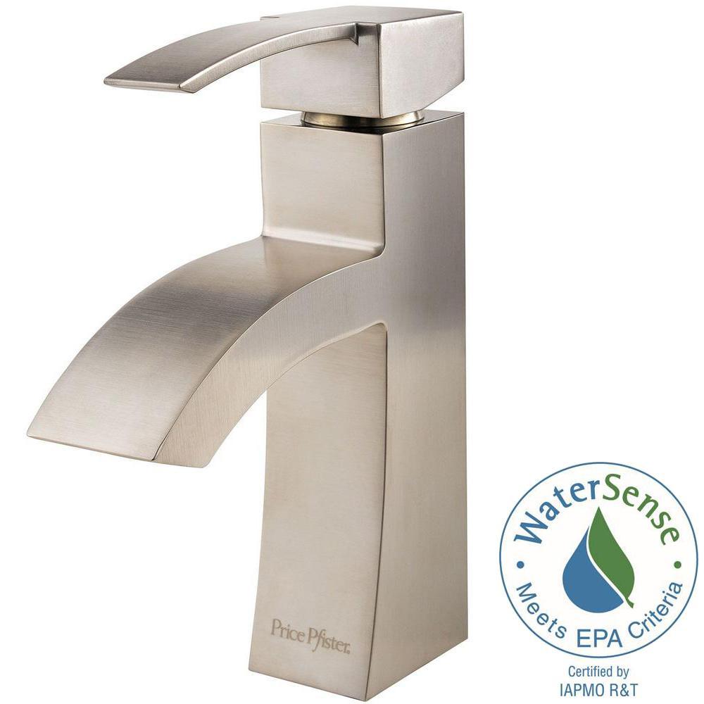 Bernini 4 in. Centerset Single-Handle Bathroom Faucet in Brushed Nickel