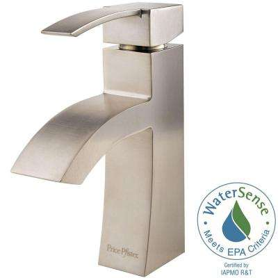 Bernini 4 in. Centerset Single-Handle Bathroom Faucet in Brushed Nickel