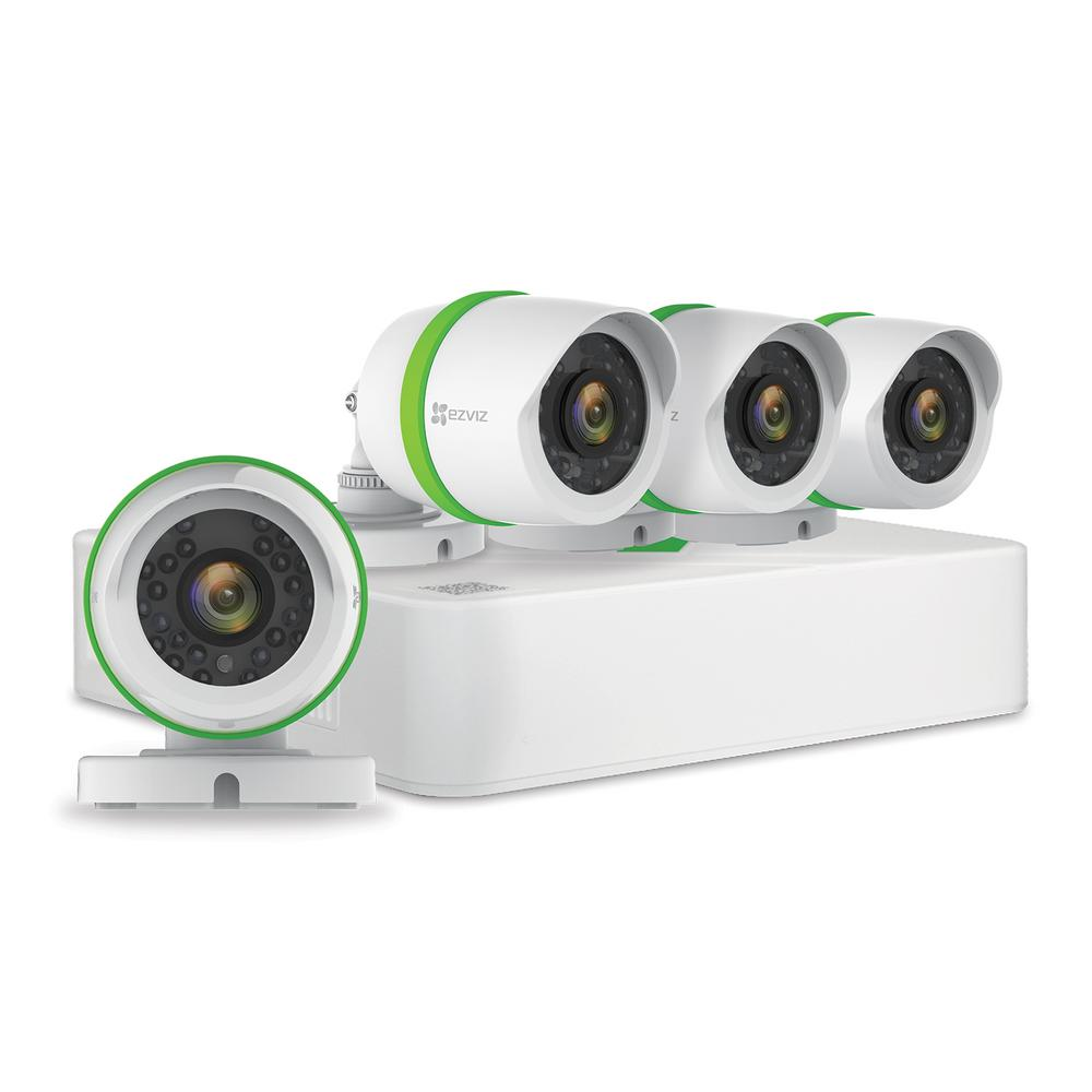 EZVIZ 4-Channel 1080p 1TB Hard Drive Video Security Surveillance System with 4 1080p Cameras