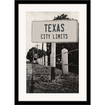 "27 in. x 36 in. ""Texas City Limits"" Framed Photographic Print"