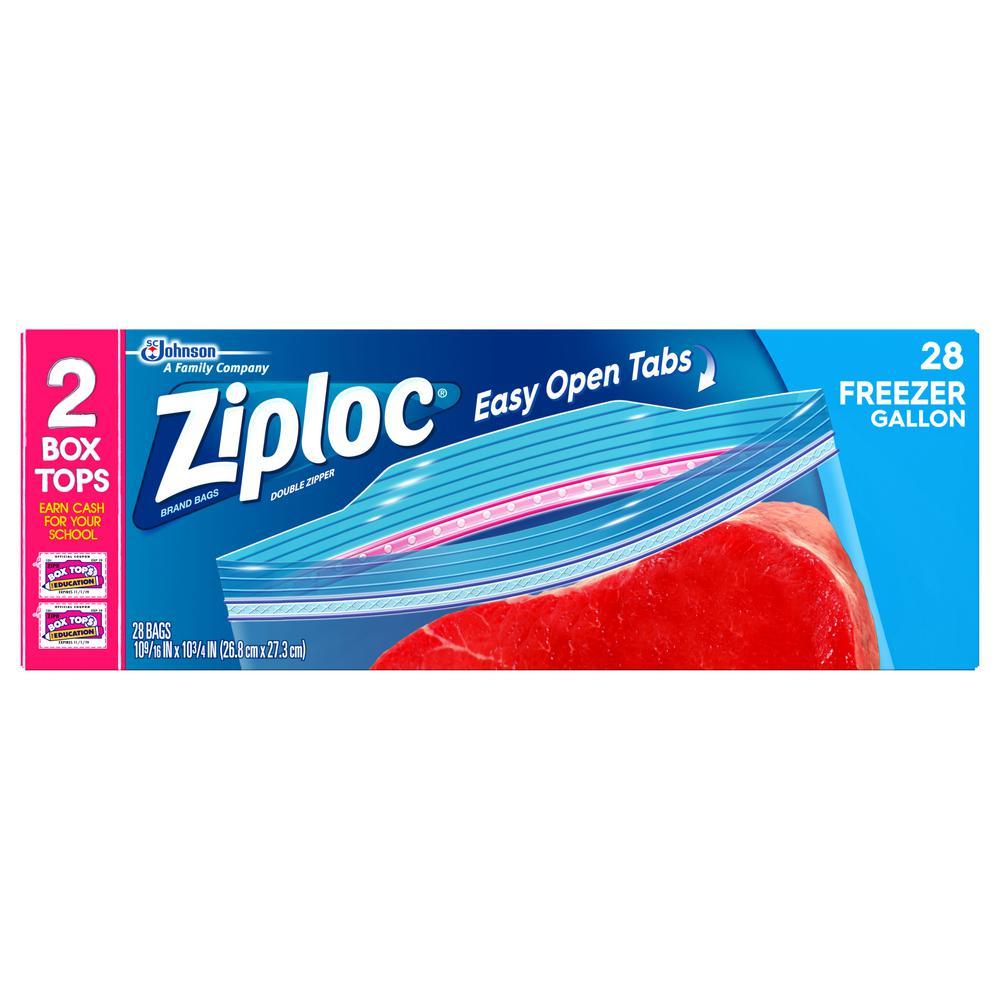 1 gal. Plastic Freezer Bags (28-Pack)