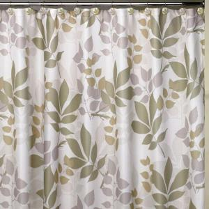 Creative Bath Shadow Leaves 72 inch Botanically Themed Shower Curtain Set by Creative Bath