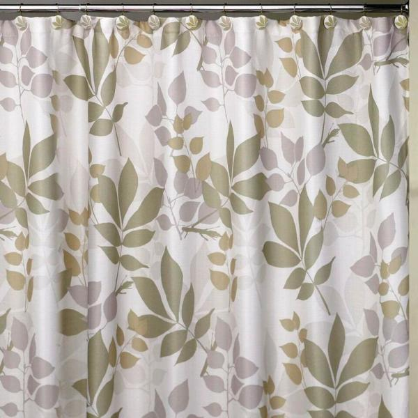 Creative Bath Shadow Leaves 72 in. Botanically Themed Shower Curtain Set
