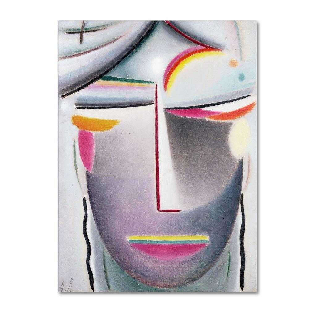 32 in. x 24 in. Head (Dark Buddha) Canvas Art