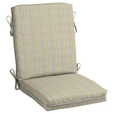 Ticking Stripe Center Welt Outdoor Chair Cushion