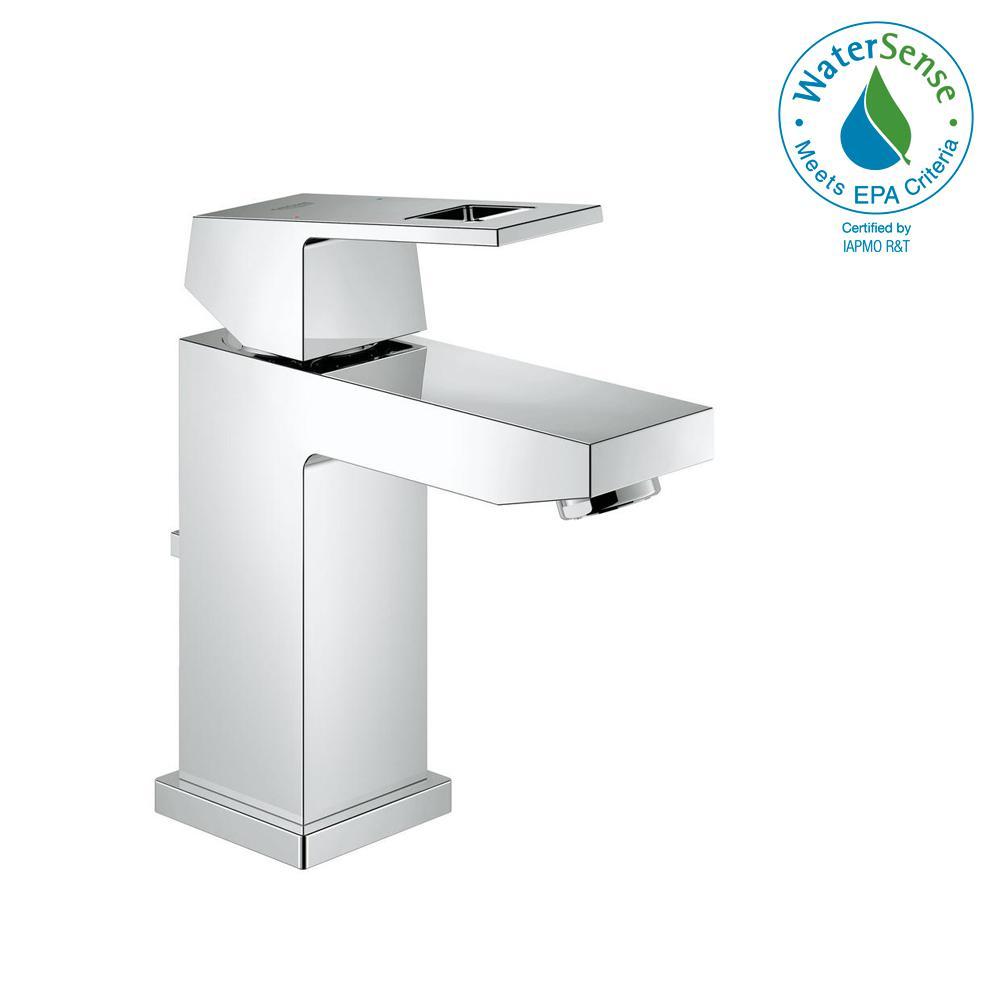 Eurocube Single Hole Single-Handle Bathroom Faucet in StarLight Chrome