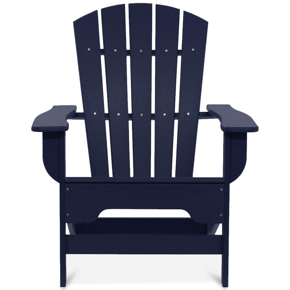 Boca Raton Navy Blue Recycled Plastic Adirondack Chair