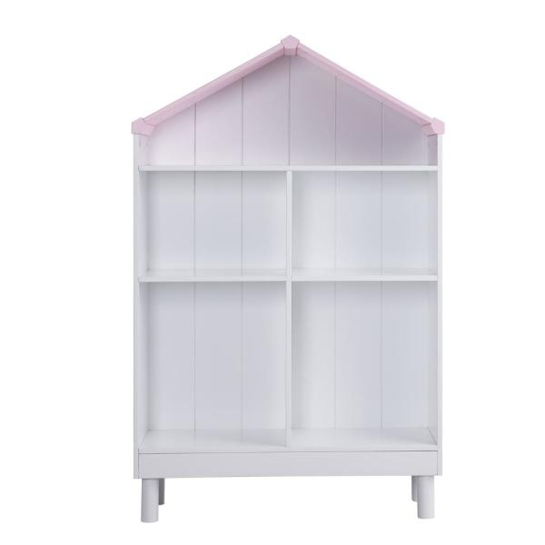 Acme Furniture Doll Cottage White and Pink Bookcase 92223