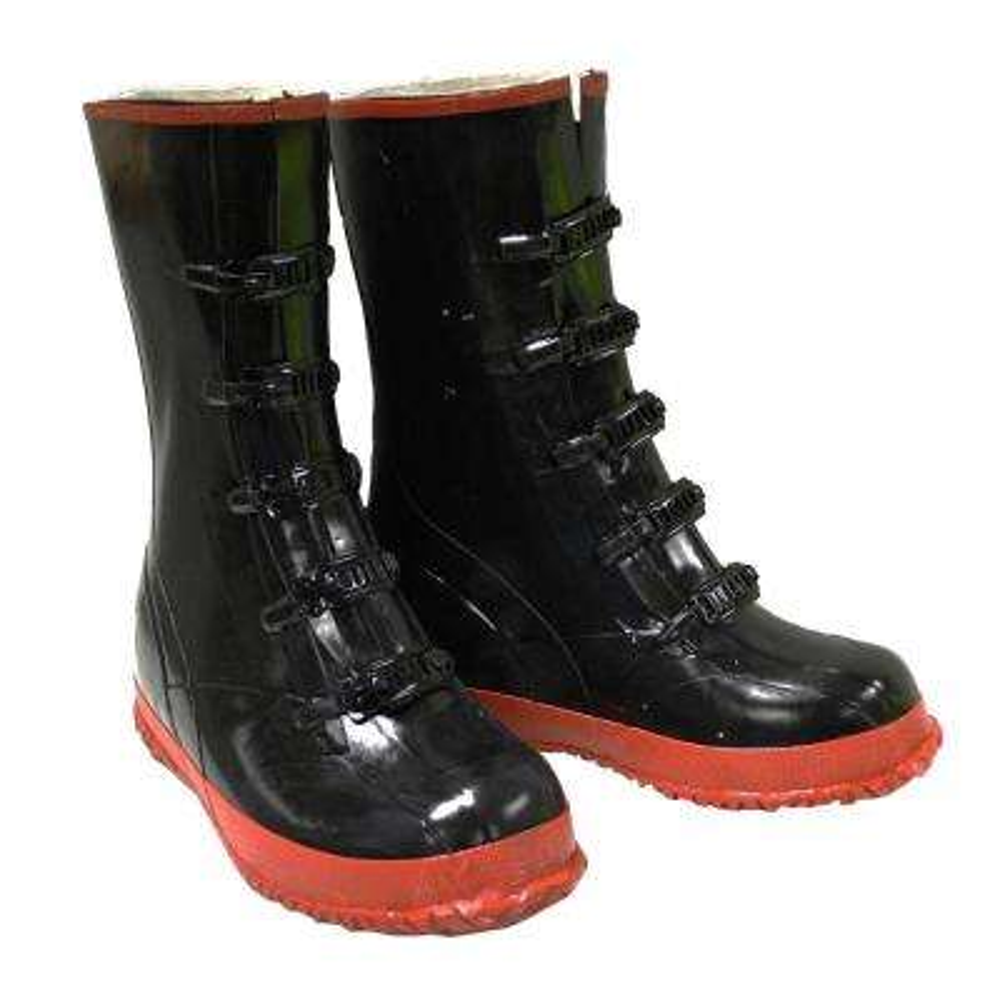 Black PVC 5 Buckle Boot Size 11