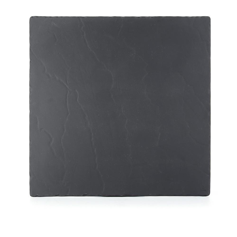 Basalt Matte Slate Porcelain 9.75 in. x 9.75 in. Square Plate