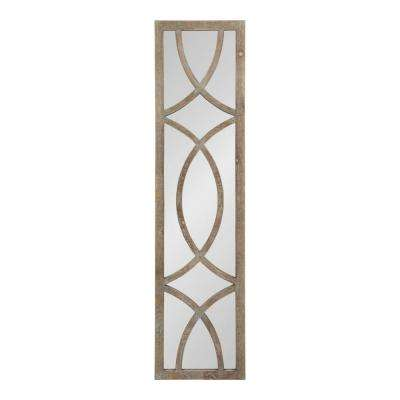 Tolland Rectangle Brown Wall Mirror